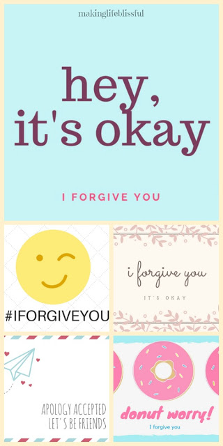 Forgiveness cards from Making Life Blissful