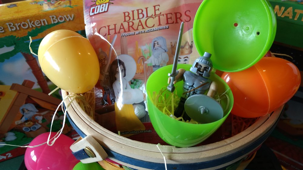 Great idea! Put these Bible figures (like Legos) inside Easter eggs this year!
