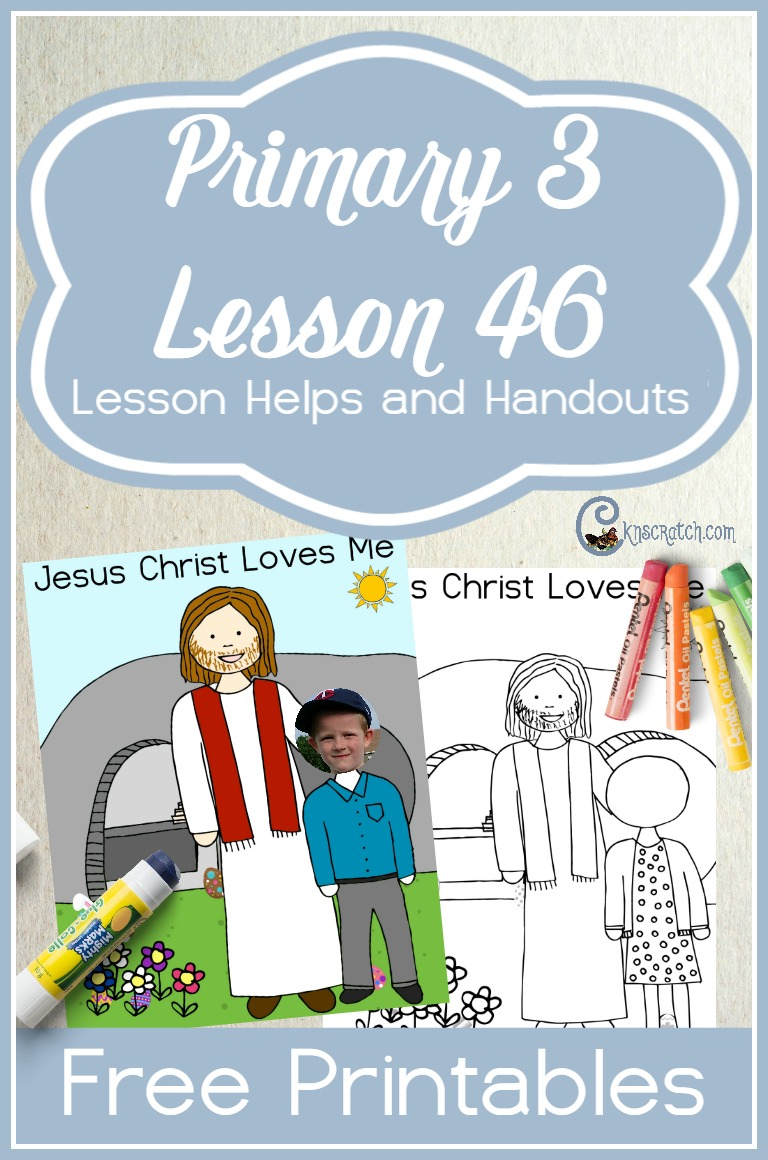 Neat handout idea and lots of resources to teach the Easter lesson- LDS Primary 3 Lesson 46: Jesus Christ Made It Possible for Us to Live Forever