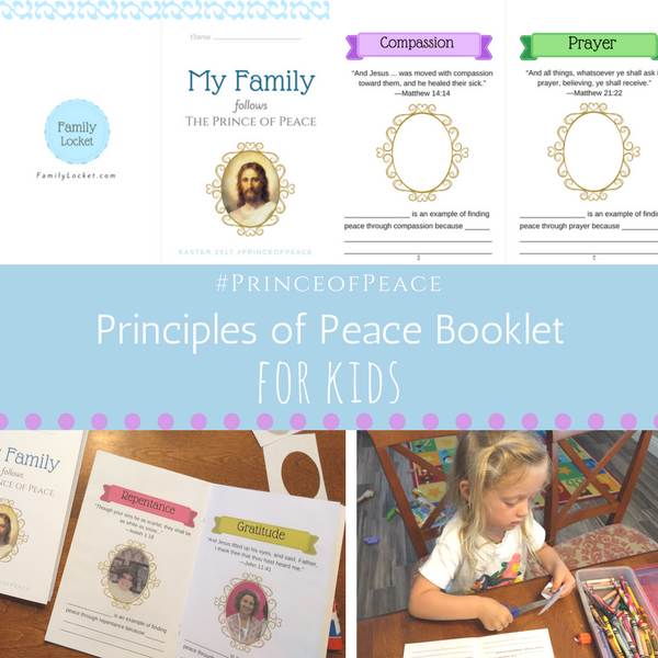 Principles of Peace Booklet for Kids from Family Locket