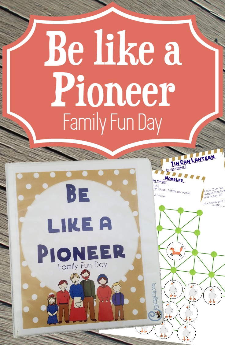 What a fun idea for a family fun day! Be like a Pioneer