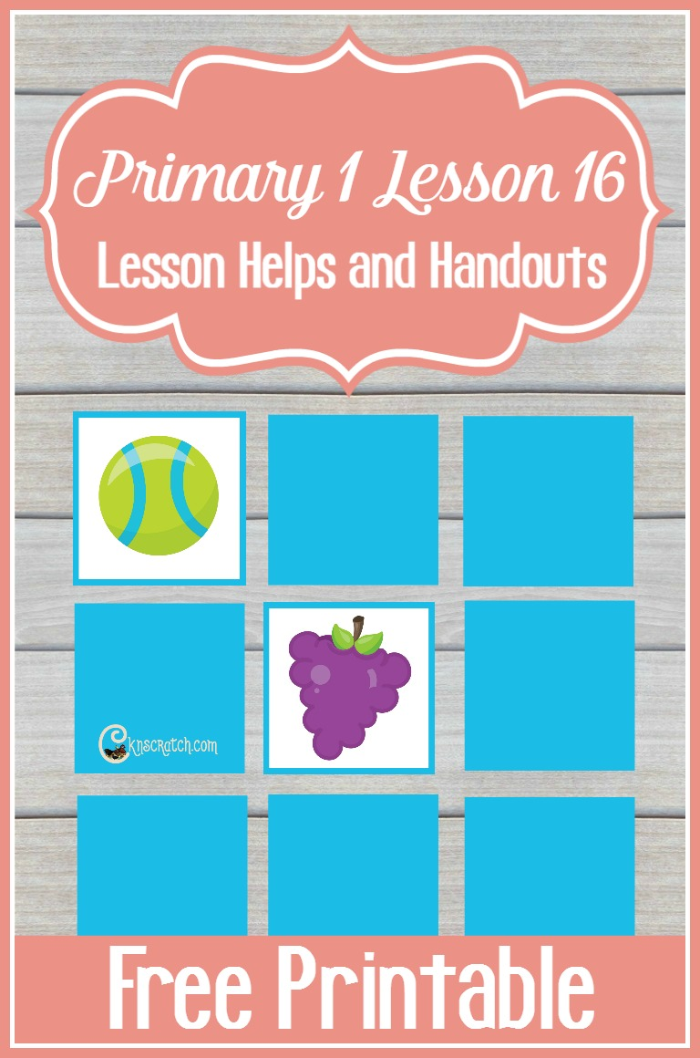 Great free game printable and resources for teaching Primary 1 Lesson 16: I Have a Body