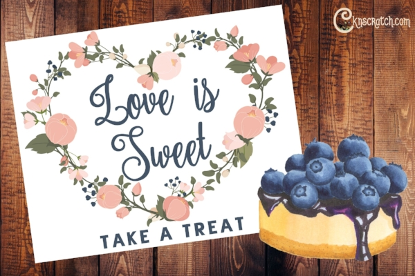 Love is sweet- cute sign and great ideas for celebrating Mother's Day at LDS church