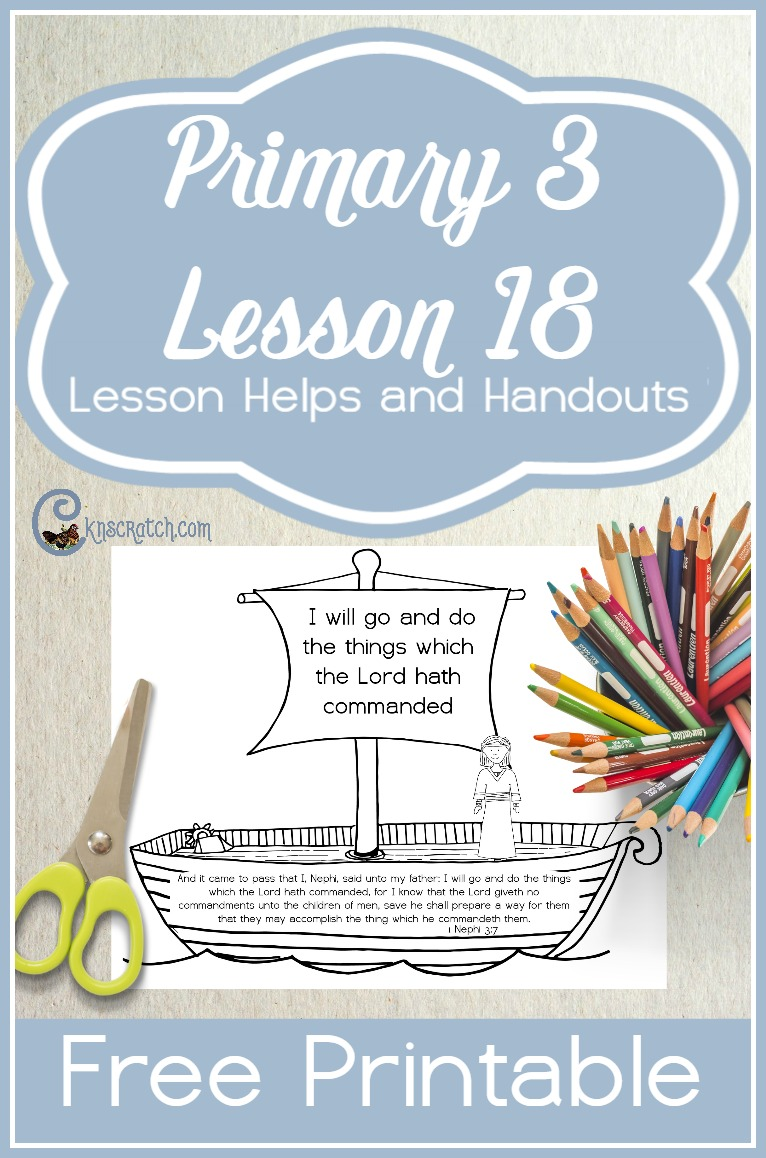 This site is my favorite! LDS lesson helps for Primary 3 Lesson 18: Heavenly Father Helps Us Obey His Commandments