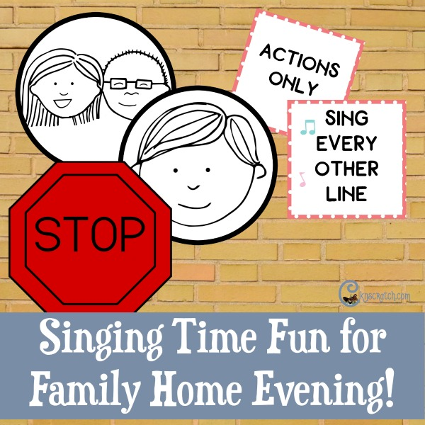 So fun! Singing time signs and cards to make Family Home Evening even better