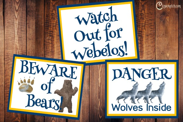 Great free Cub Scout door signs