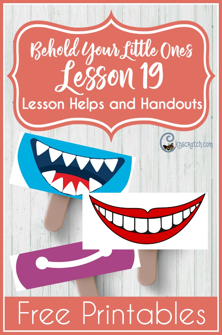So fun! Great free printables and ideas for teaching LDS Nursery- Behold Your Little Ones Lesson 19: I Can Be Happy