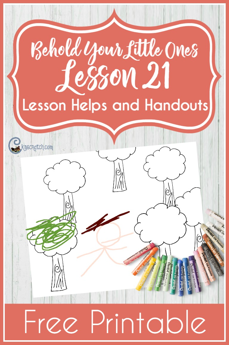 What a great resource for LDS Nursery! Teaching helps and free printables for Behold Your Little Ones Lesson 21: Joseph Smith Saw Heavenly Father and Jesus Christ