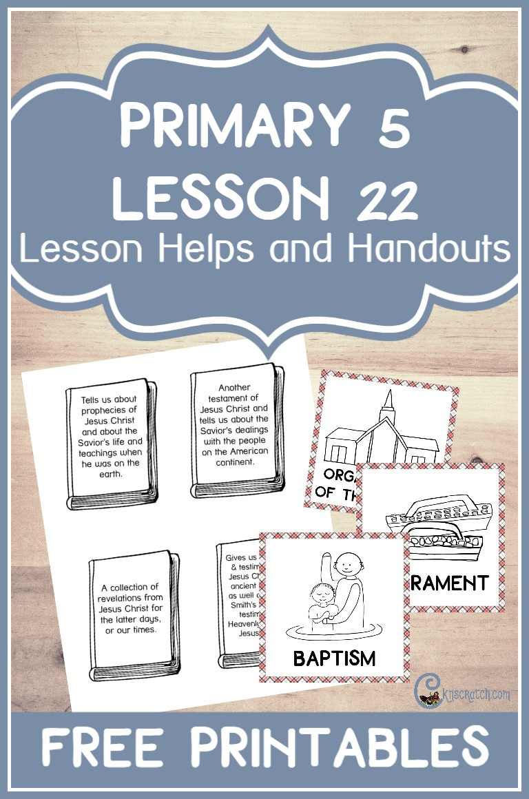 Love these free handouts and ideas for Primary 5 Lesson 22: The Latter-day Revelations Are Published