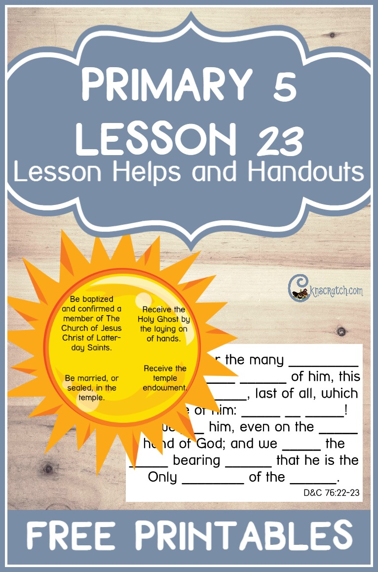 Great free LDS handouts to teach Primary 5 Lesson 23: The Prophet Receives a Vision of the Three Degrees of Glory