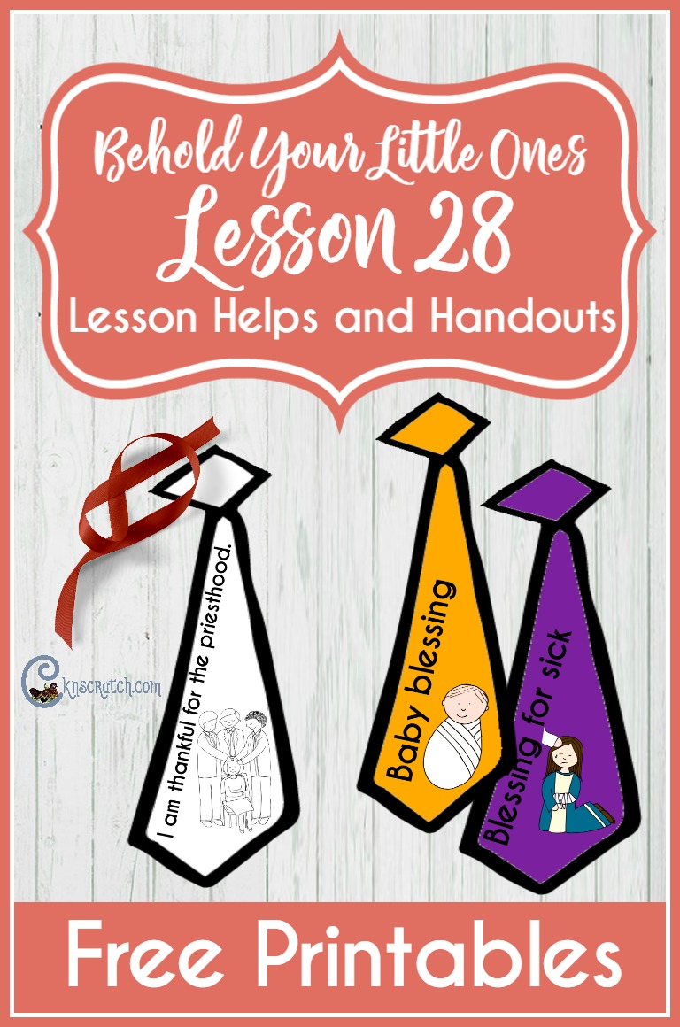 Great free handouts for LDS Nursery for Behold Your Little Ones Lesson 28: Heavenly Father Blesses Me through the Priesthood