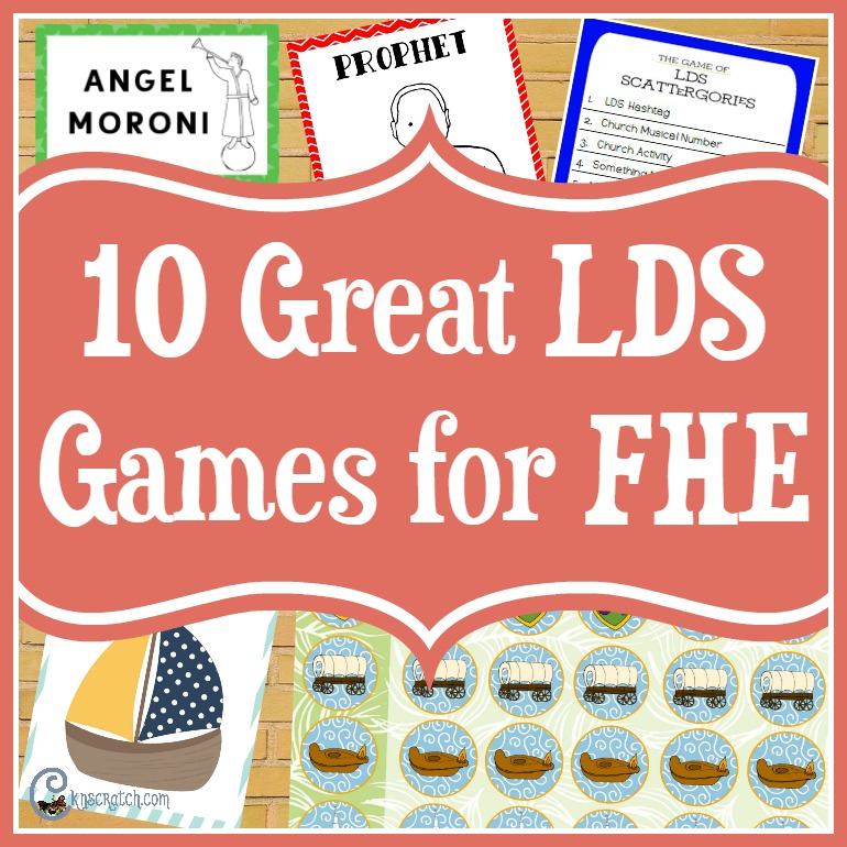 Fun games to play for Family Home Evening, Sunday, or even for a church activity