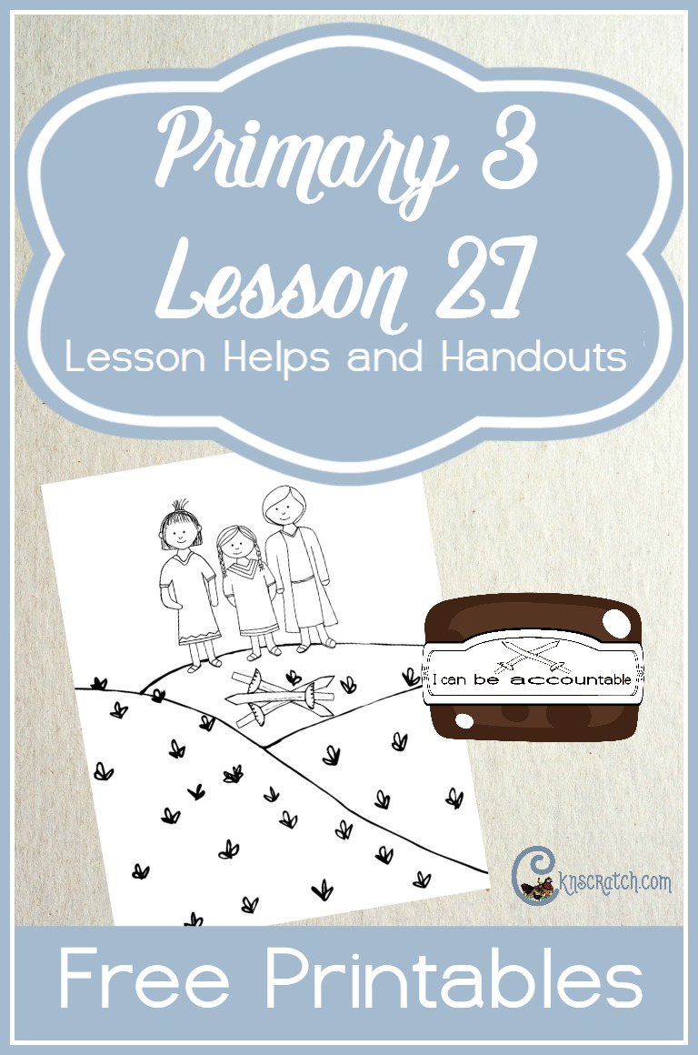Great free handouts and lesson helps for LDS Primary 3 Lesson 27: The Age of Accountability