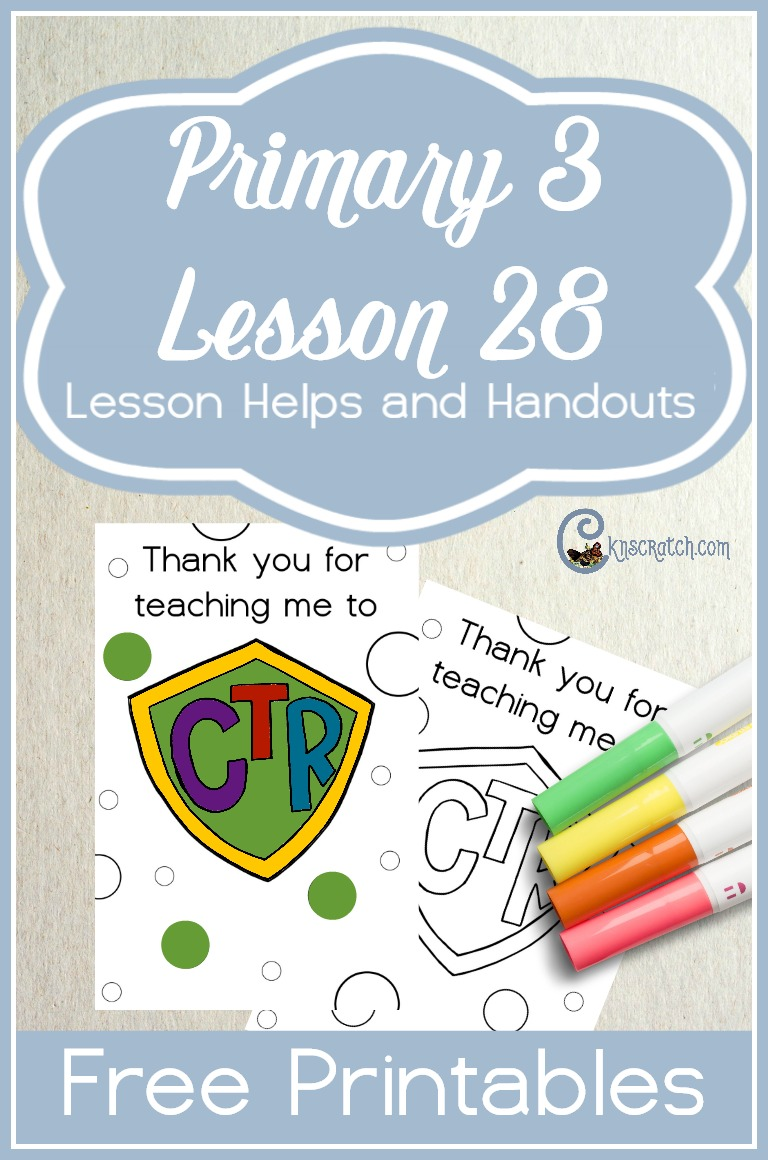 These is a cute idea for teaching Primary 3 Lesson 28: Our Parents Help Us Learn