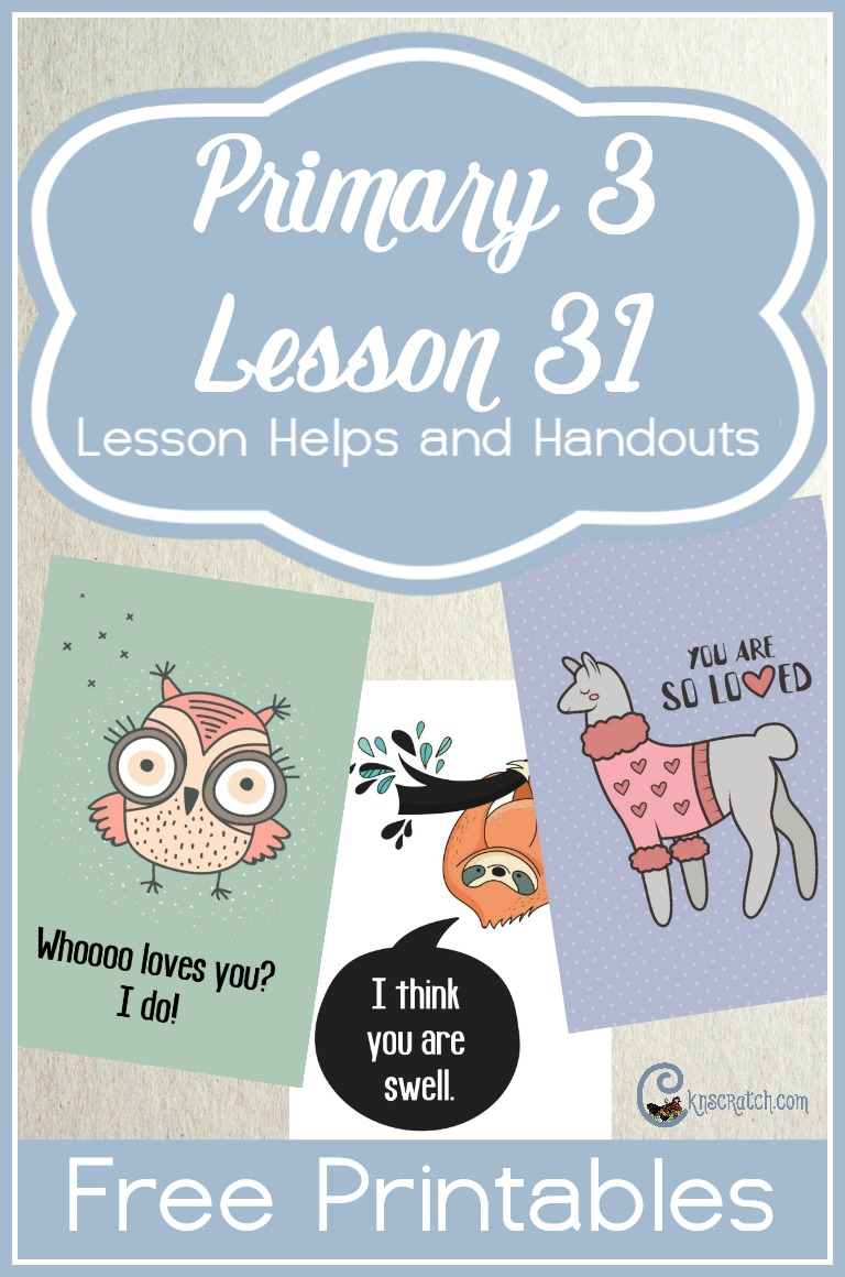 These are fun cards for teaching Primary 3 Lesson 31: Jesus Christ Wants Us to Love Everyone