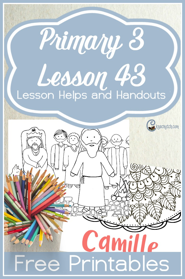 Such a great site- free handouts and helps for teaching LDS Primary 3 Lesson 43: Honoring the Names of Heavenly Father and Jesus Christ