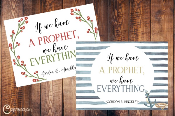 Great free printable posters about having a living prophet