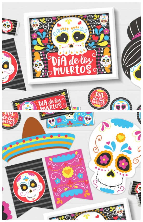 Cute printables for Day of the Dead