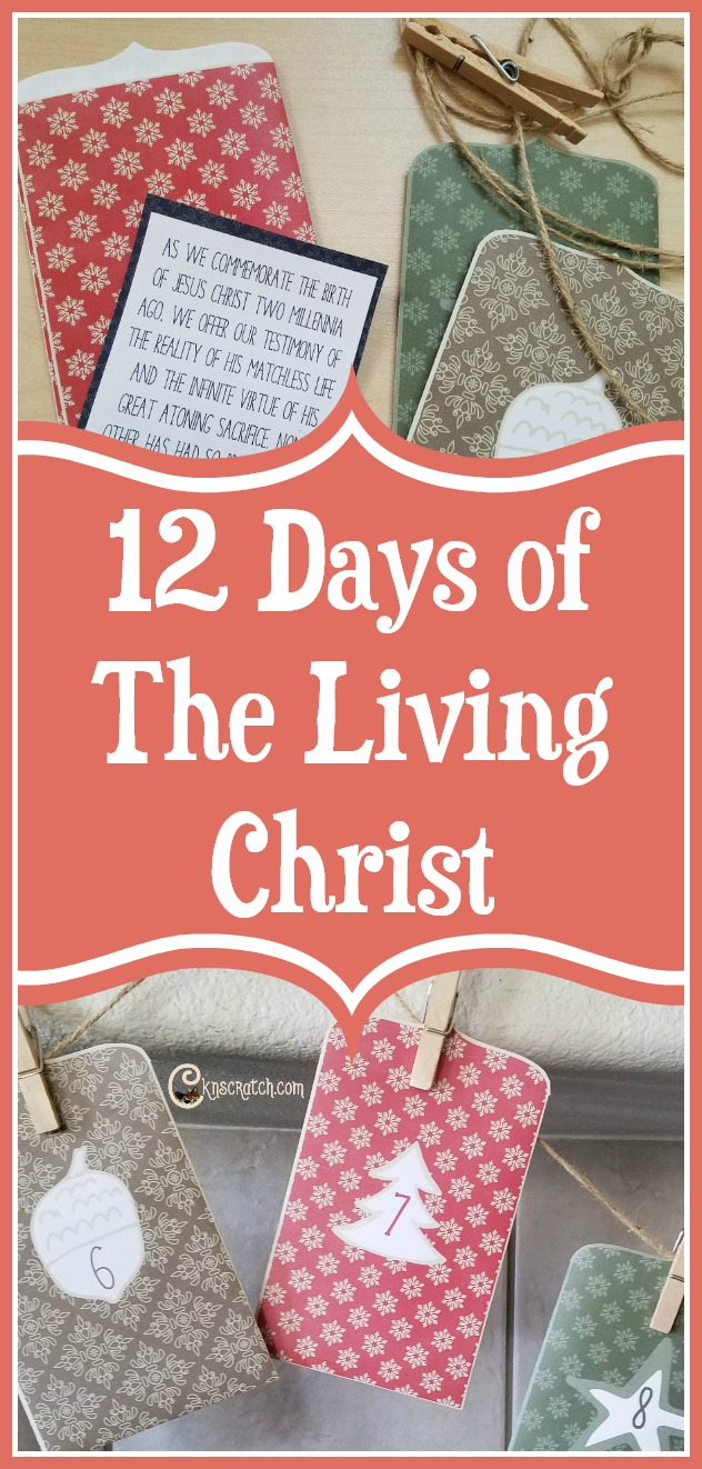 Like this idea- memorize The Living Christ with this 12 day advent