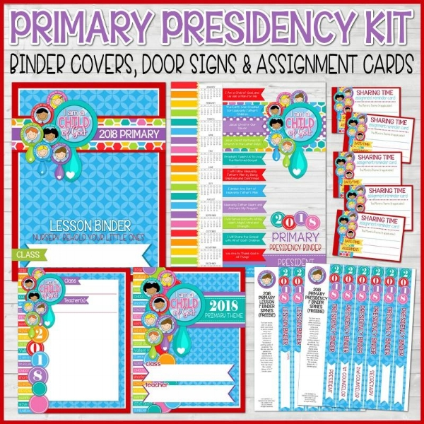 2018 Primary Presidency Kit