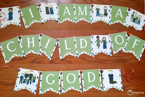 Free I Am a Child of God Banner plus tons of other great resources for the 2018 Primary Theme #IamachildofGod