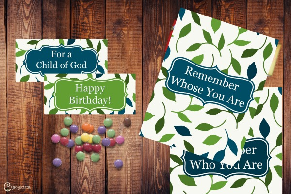 Child of God themed bag toppers and candy wrappers for free