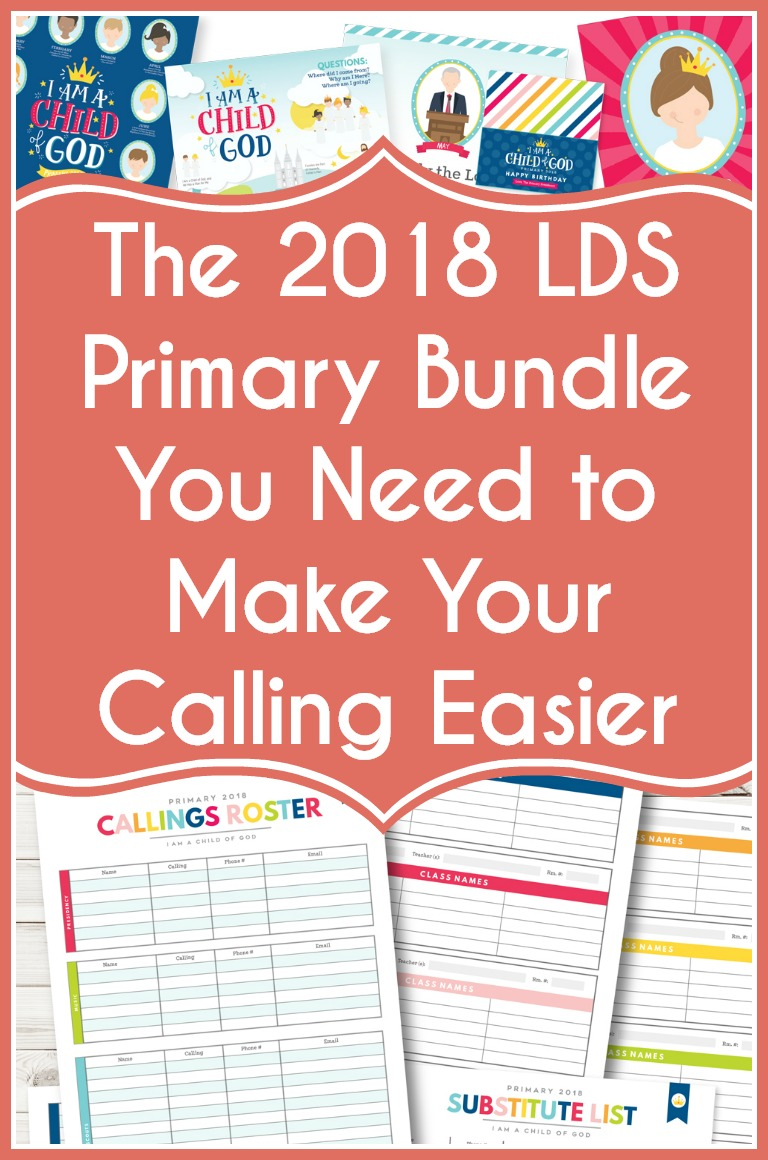 Seriously, I love this. 2018 LDS Primary Bundle to make your calling easier
