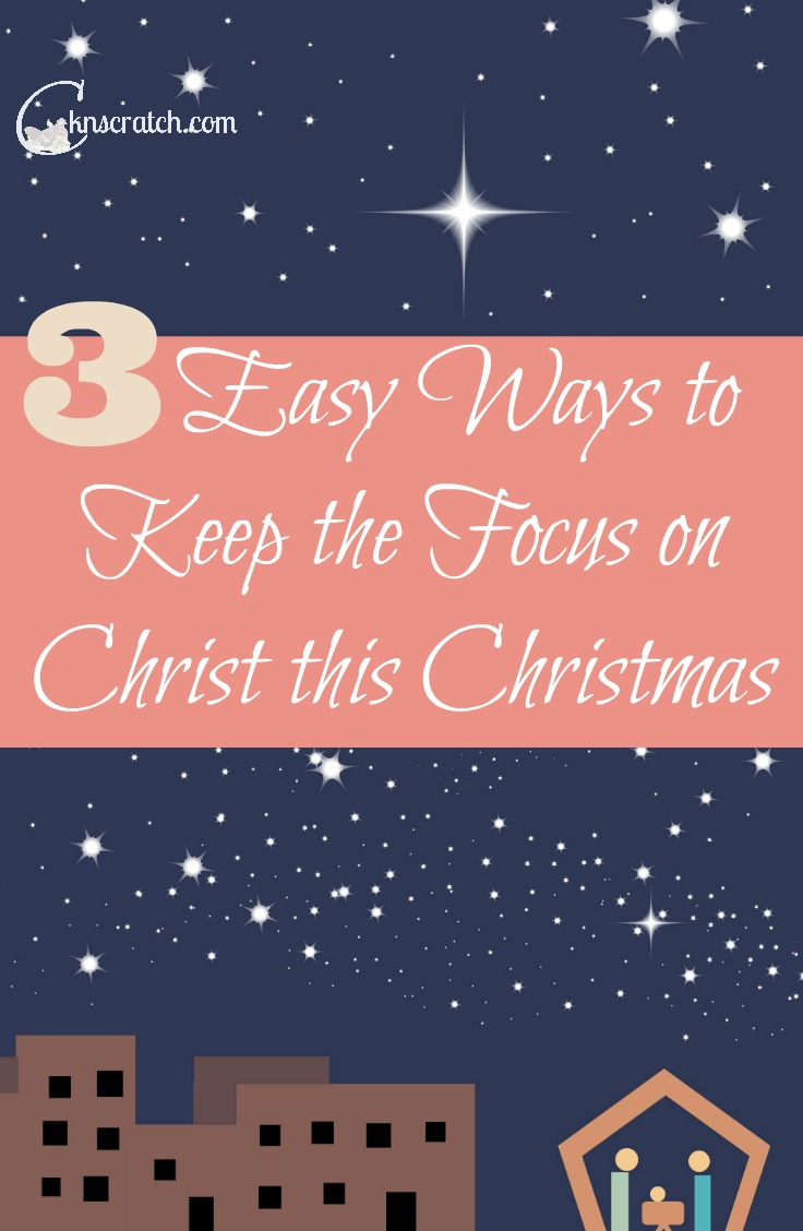 I really like these ideas for keeping Christ in Christmas