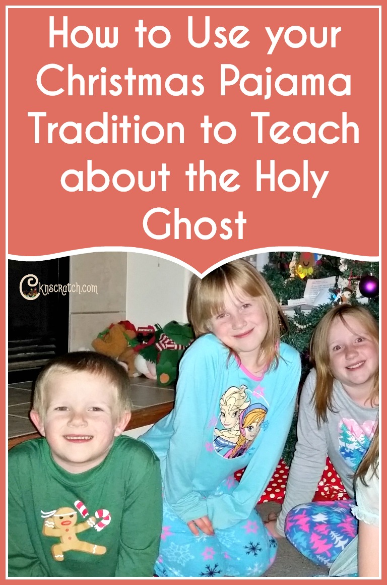 Love this idea! It's a great addition to the Christmas pajama tradition #HolyGhost #Christmas