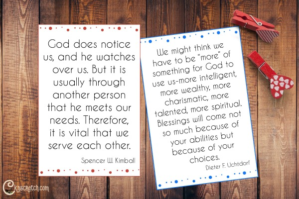 "Quote cards to go with President Uchtdorf's talk, ""A Yearning for Home"""