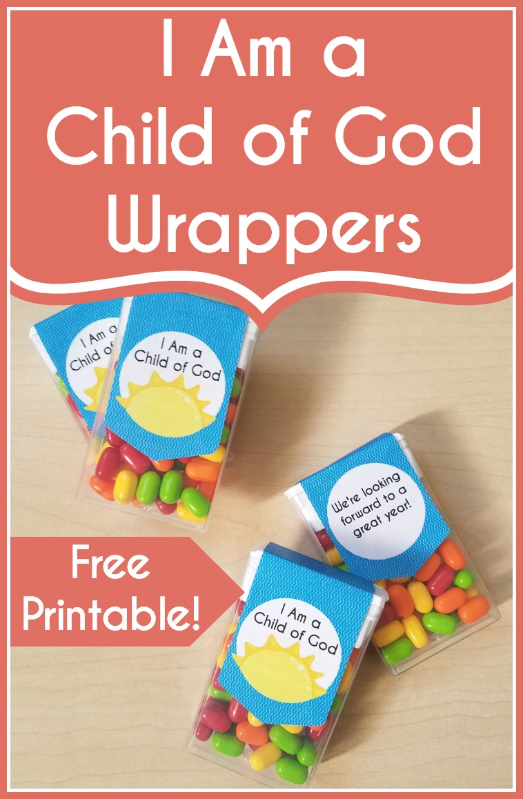 How cute are these- I am a child of God tic tac wrappers! These would be great for a birthday or welcome gift in LDS Primary.