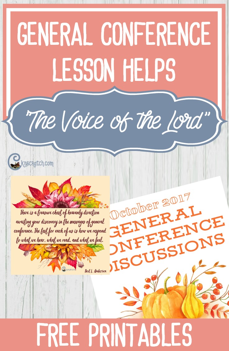 "Teaching helps for Elder Neil L. Andersen's talk, ""The Voice of the Lord"" (October 2017) #LDS"