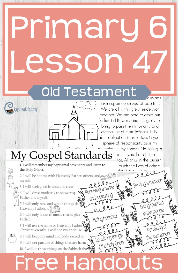 Need to remember to teach this one before anyone turns 12 in my LDS Primary class. Primary 6 Lesson 47: The Priesthood Can Bless Our Lives (Priesthood Preparation Lesson)