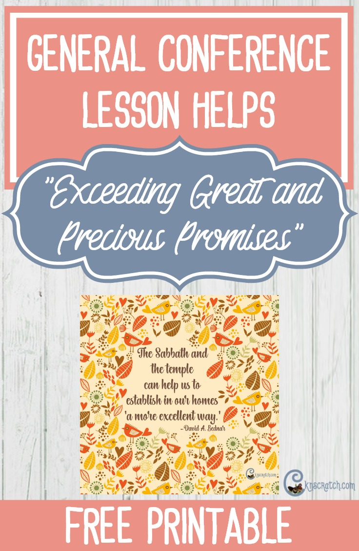 "LDS helps for teaching ""Exceeding Great and Precious Promises"" by Elder David A. Bednar"