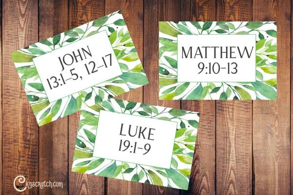 Scripture cards about service