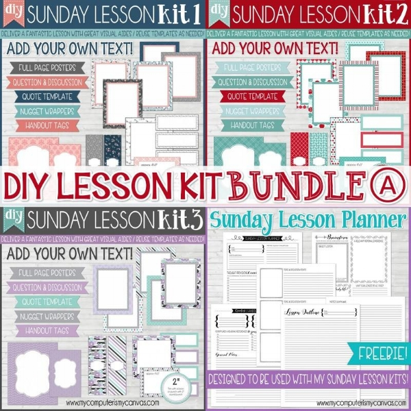 Love this! Editable lesson kit so you can easily make handouts and more!