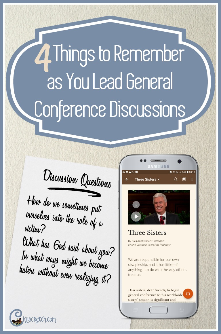 I like the texting tip! 4 things to remember as you lead LDS General Conference discussions