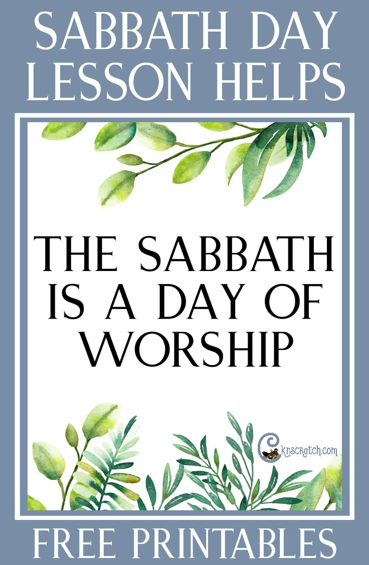"So glad I found this site! Lesson helps and free handouts for teaching ""The Sabbath Is a Day of Worship"" #LDS"
