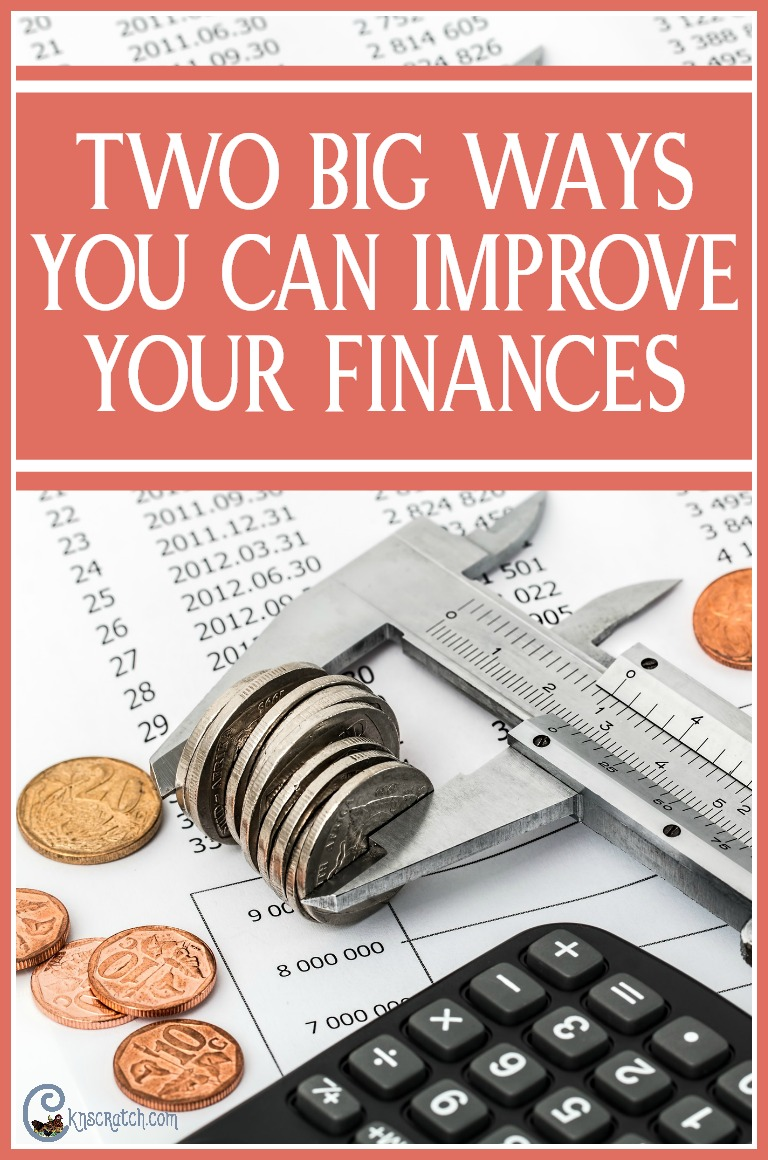 Love that these finance suggestions aren't hard to implement. Two big ways to improve your finances