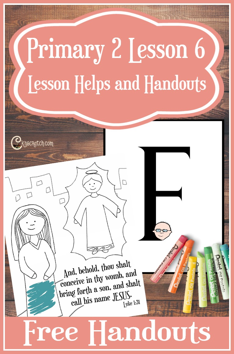 FREE handouts and great lesson helps for teaching LDS Primary 2 Lesson 6 (CTR A): We Have Special Families