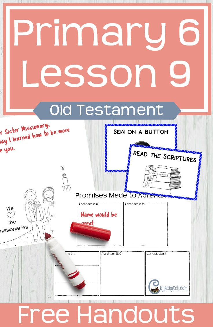 Wow! I love all of these FREE printables to help teach LDS Primary 6 Lesson 9: Jehovah makes covenants with Abraham