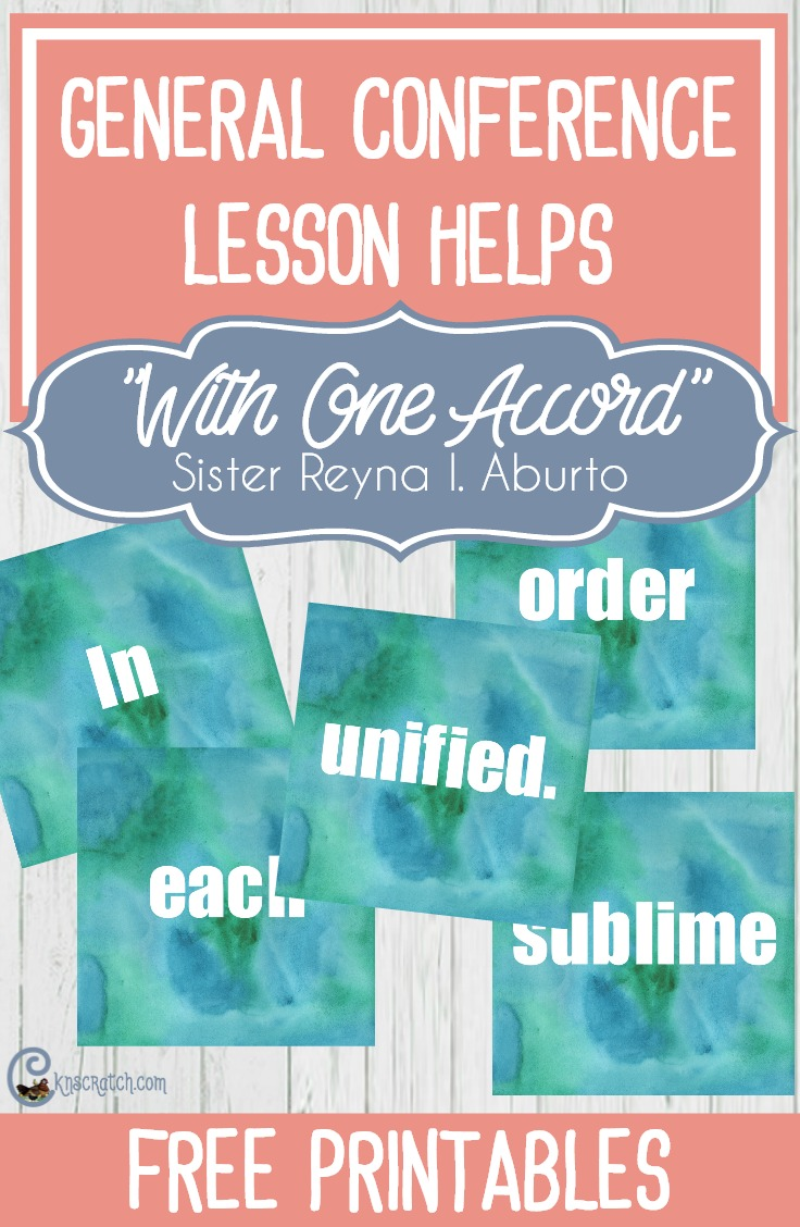 "Great ideas and free handouts to help teach Sister Aburto's ""With One Accord"" #LDS #Mormon"
