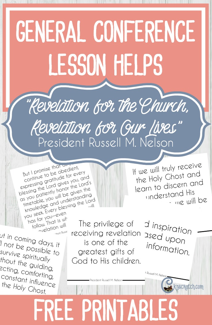 """Great resource to help lead a discussion on President Russell M. Nelson's """"Revelation for the Church, Revelation for Our Lives"""" #LDS"""