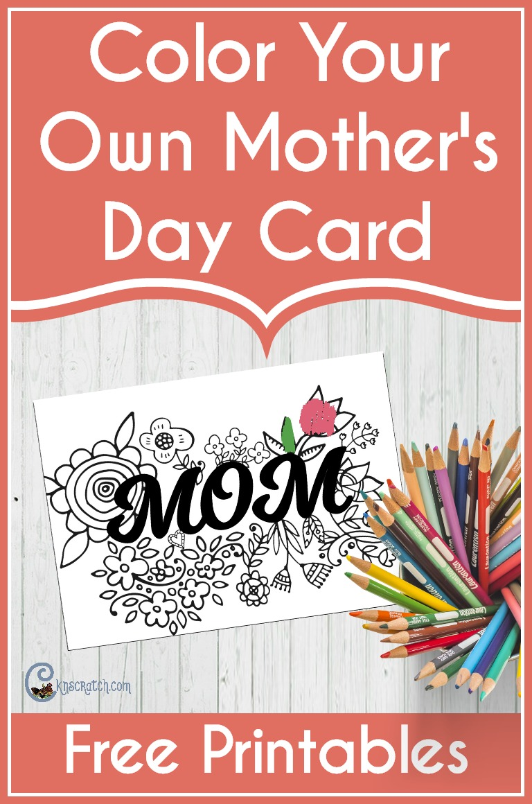 Love this free coloring page card for Mom #MothersDay
