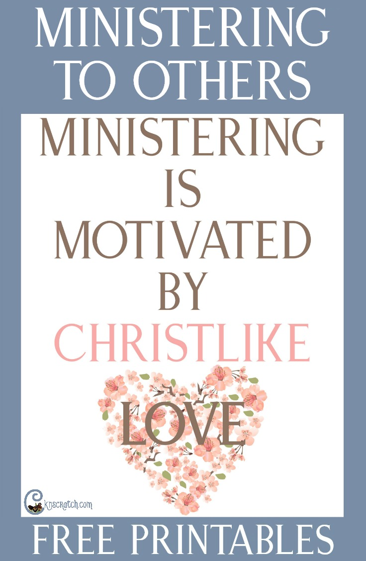 """Ideas, questions, free printables, and more to help you lead a discussion about """"Ministering is Motivated by Christlike Love"""" #LDS"""