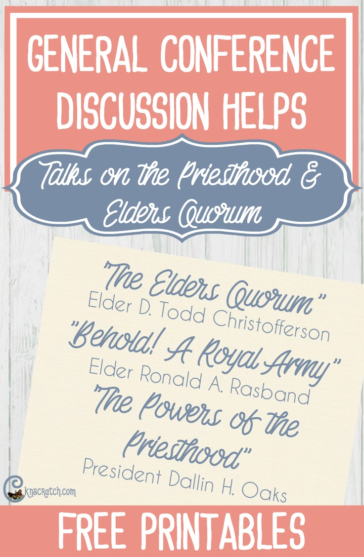 Discussion helps for the three talks on the new Elders Quorum structure #Mormon