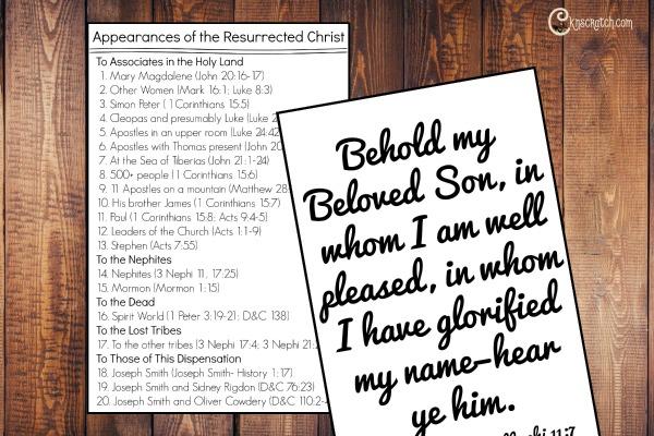Resurrection scriptures to discuss