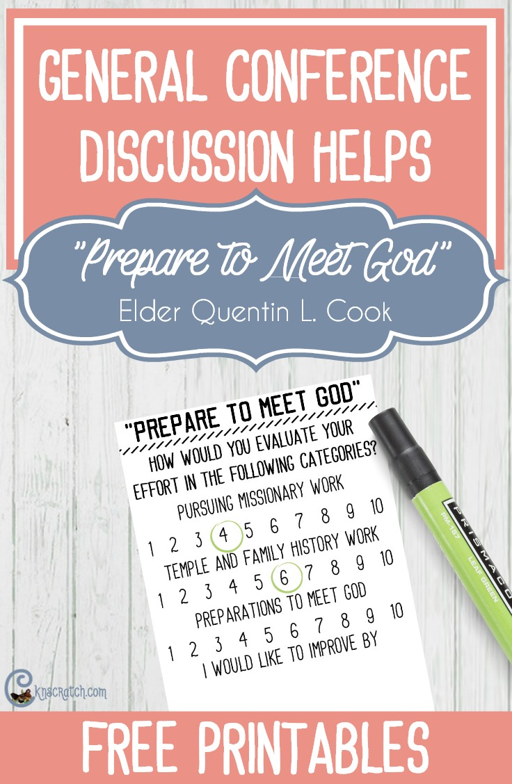 "Discussion helps for ""Prepare to Meet God"" by Elder Quentin L. Cook"