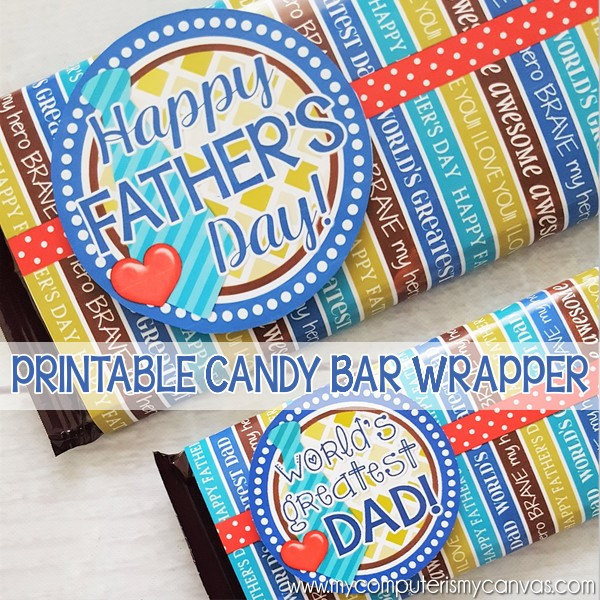 Cute Happy Father's Day chocolate bar wrappers