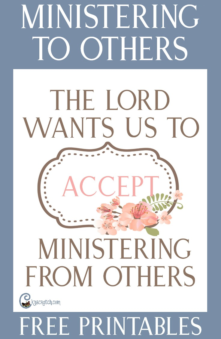 "Such a great resources to use when preparing to teach, ""The Lord Wants Us to Accept Ministering from Others"" #LDS #Mormon #Ministering"